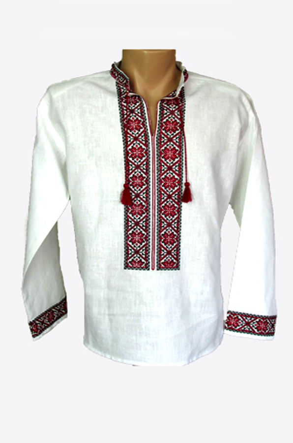 "Embroidered shirt men ""Narcissus"""