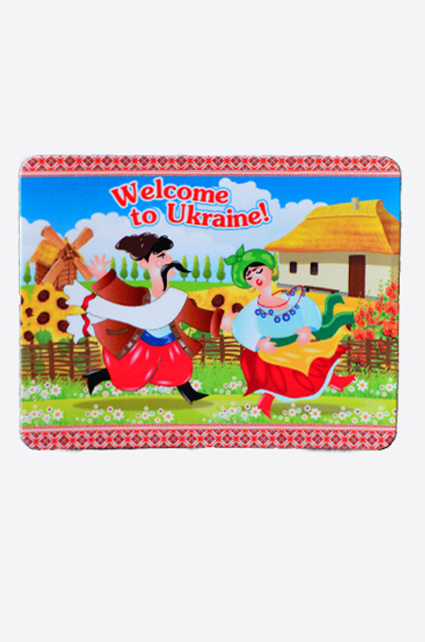 "Vinyl magnet ""Welcome to Ukraine"""