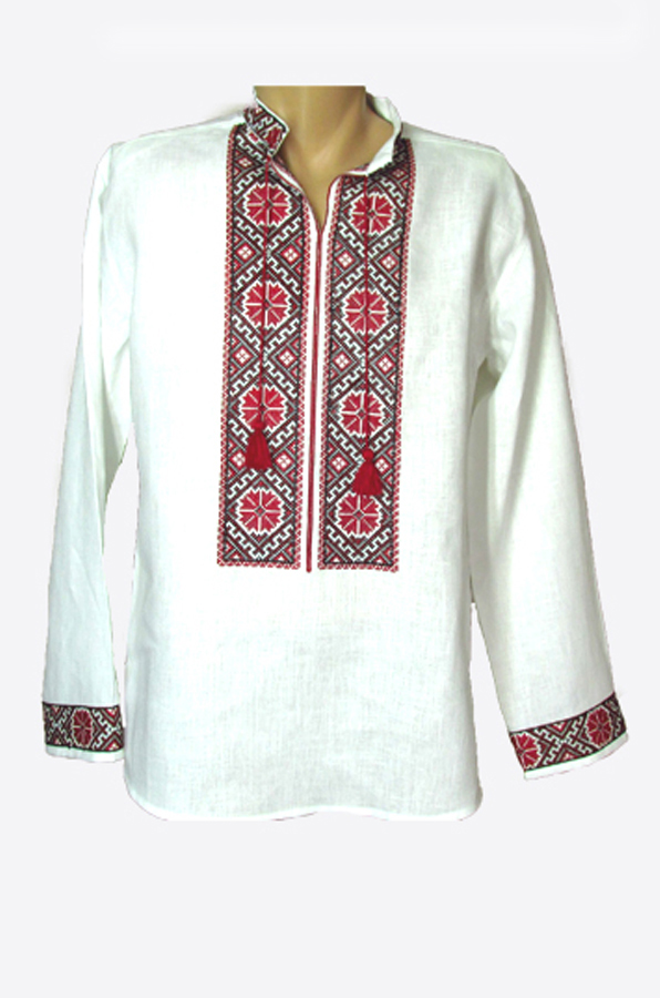 "Embroidered shirt men ""Сornflower"""