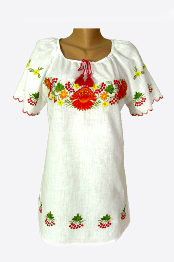 "Embroidered blouse women  ""Petrykivka"""