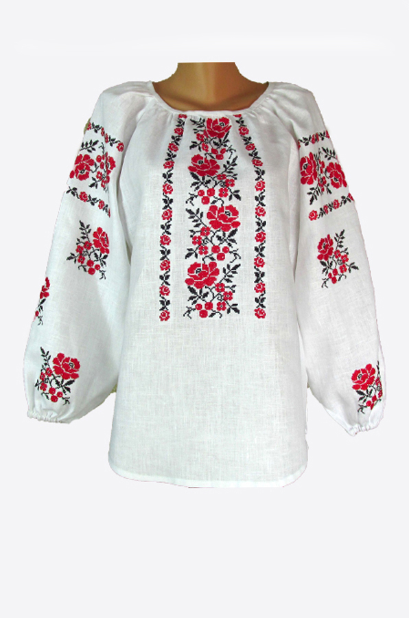 "Embroidered blouse women  ""Young rose"""