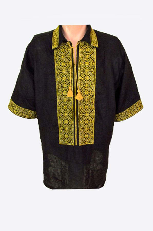 "Embroidered shirt men ""Rhombus 22"""