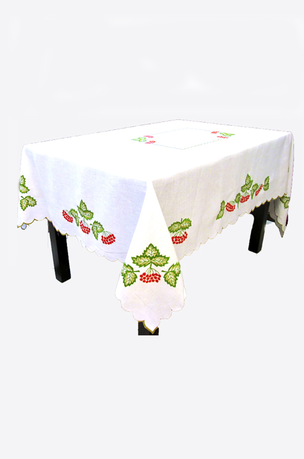 "Embroidered tablecloth ""Quelder rose"""