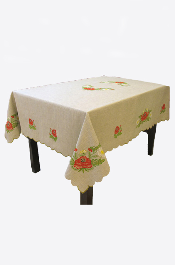"Embroidered tablecloth ""Poppies"""