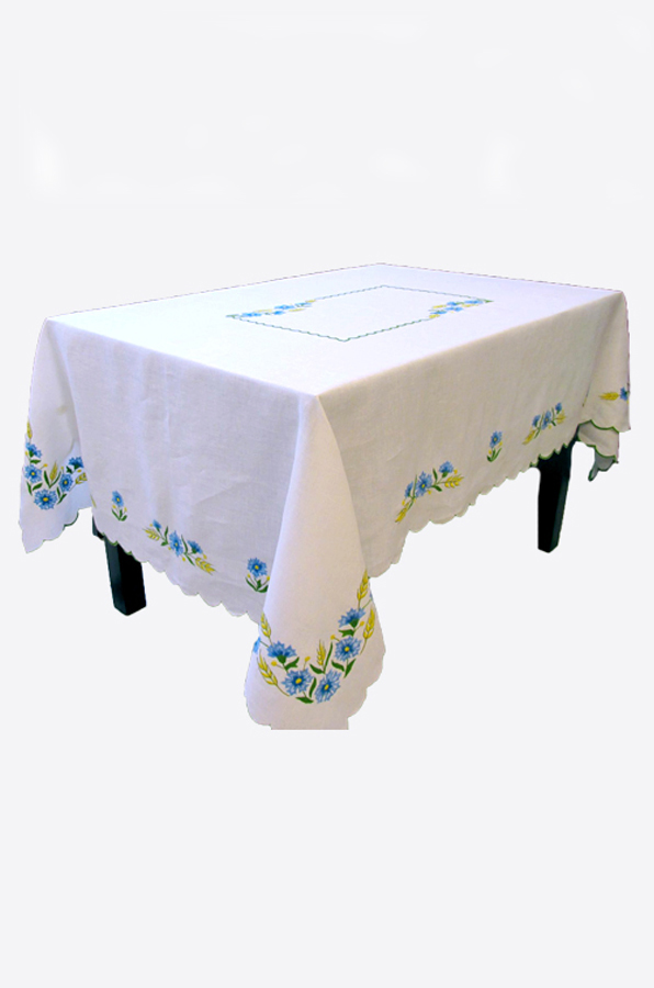 "Embroidered tablecloth ""Cornflower"""