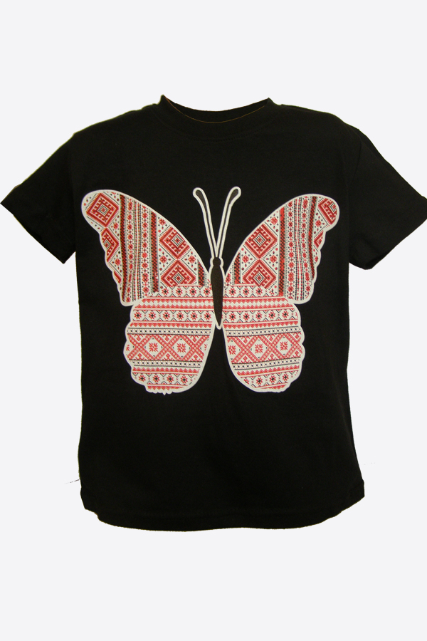"Shirts for children black ""Butterfly"""