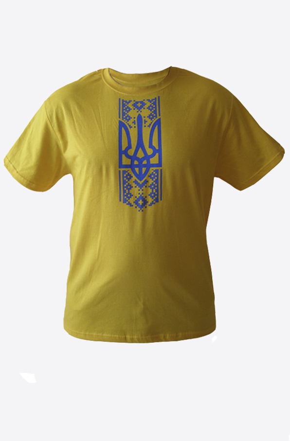 "Yellow shirt ""Trident-ornament"""