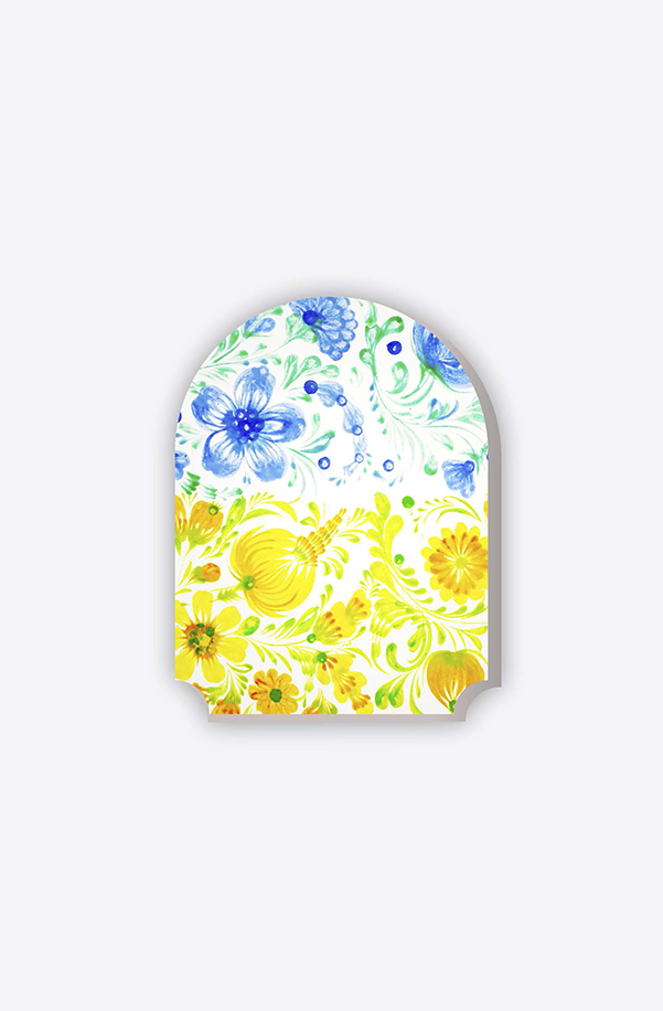 """Magnet """"Flowers yellow-blue"""""""